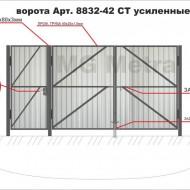 Ворота с калиткой из профлиста прочные