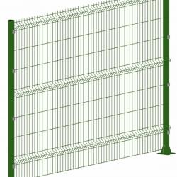 Секция 3D ограждения 2530х1930мм 3/4мм RAL6005