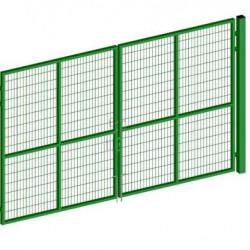 Ворота распашные для 3D ограждения ЭКО 3м RAL6005